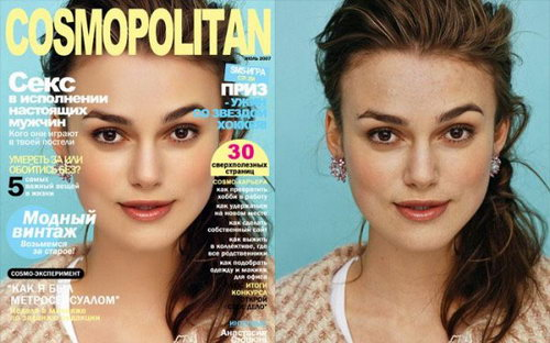 Photoshop Before & Afters of the Stars (1/2)